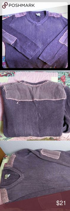 Ruffhewn purple sweater In excellent used condition.  No flaws or stains.  Be sure to check back often as I will be adding lots of new items 😁!  All my items will be sent to the post office the next day or same day; depending on time of order (anything ordered after 4pm will be next day); from now until after the holidays !! Happy Hunting 😊 Ruff Hewn Sweaters