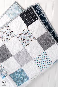 a Free Quilt Pattern Use this patchwork baby quilt tutorial to make a cute quilt for a baby boy. Great quilt pattern for beginning quilterBaby Girl Baby Girl may refer to: Quilt Baby, Diy Baby Quilting, Baby Quilts Easy, Baby Boy Quilt Patterns, Quilted Baby Blanket, Baby Patchwork Quilt, Cute Quilts, Baby Girl Quilts, Quilt Patterns Free