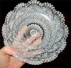 Incredibly Beautiful Antique American Brilliant Cut Glass Crystal Dish - love me some cut glass