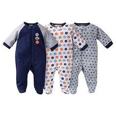 Gerber Onesies Baby Boy Sleep N Play Sleepers 3 Pack Sports Size 03 Months * For more information, visit image link.