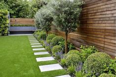 Low-maintenance yet full of interest with glossy green shrubs, clipped box balls silvery green olive trees. Designed by Tom Howard, this is… - Alles über den Garten Back Garden Design, Modern Garden Design, Backyard Garden Design, Backyard Landscaping, Backyard Designs, Landscaping Ideas, Terrace Garden, Landscape Design, Hydrangea Landscaping