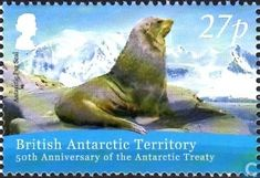 Postage Stamps - British Antarctic Territory - Antarctic Treaty 50 years