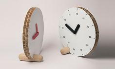 'cyrano' cardboard clock designed by filippo mambretti for gloook