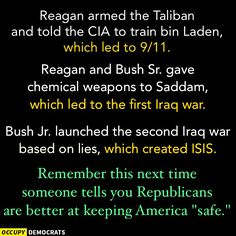 When a Conservative says that the Republican party is better at keeping America safe, remember this.