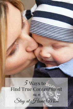 Great tips for finding contentment when motherhood feels hard or overwhelming!