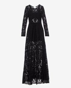 like this / black lace floor length dress