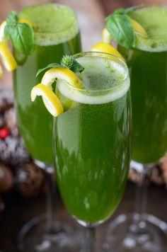 Basileus Cocktail - Basil Prosecco with a twist of Lemon (recipe via www.thenovicechefblog.com)