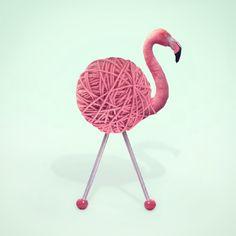 "2,216 Likes, 25 Comments - Paul Fuentes (@paulfuentes_design) on Instagram: ""Yarn Flamingo #flamingo #photography #artphoto #pop #mínimal #popart #stilllife #digitalart"""