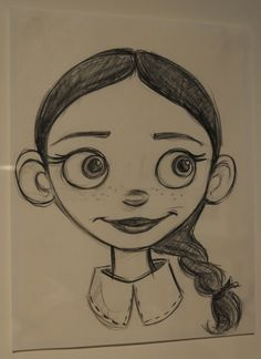 "This image of Jessie, from ""Toy Story 2,"" was done by Jill Culton in pencil  http://news.cnet.com/2300-11386_3-10005117-14.html"