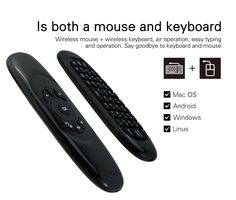 Wireless Air Mouse Keyboard Game Remote Controller For Macbook PC iPad Projector Smart TV Box Apple Watch Accessories, Ipad Accessories, Android Windows, Wearable Device, Mac Os, Smart Tv, Iphone 4, Keyboard