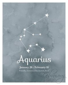 Aquarius Zodiac Constellation Wall Art Printable by FebruaryLane