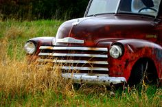 Abandoned Old Chevy in Overgrown Field, Fine Art Photography by Pitts Photography