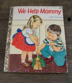 Vintage Children's Book We Help Mommy