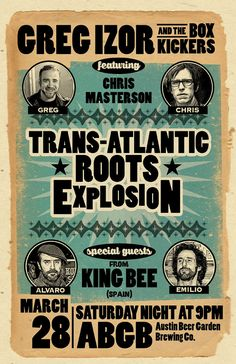 Greg Izor and King Bee poster   austin texas by austingigposters