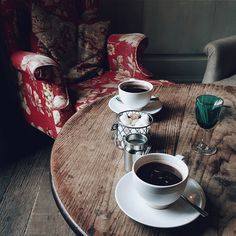"""""""Coffee. Enjoyed in a cosy fireside chair. It's blowing a gale out there. There is only one thing to do. Light the fire and snuggle with my dearest..."""""""