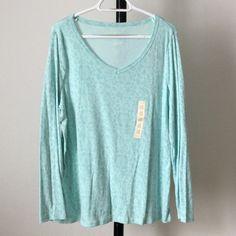NWT Aqua long sleeved top V-neck lqontrql Sonoma Tops Tees - Long Sleeve