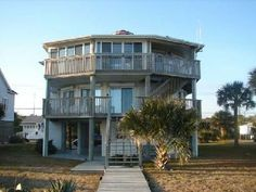 Elevator!! Edisto Realty - 1506 Palmetto Blvd, Incredible Ocean Views from All Angles of this Round Beachfront Home!