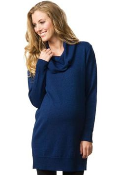 Crave Drape Front Merino Wool Maternity Tunic Sweater | Maternity Clothes  Available at Due Maternity www.duematernity.com