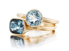 Tourmaline And An Aquamarine Ring