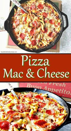 For those times when you can't decide what to make for dinner I suggest you whip up this Unbelievably Cheesy Pizza Mac & Cheese. It's a cross between two of your favorite things pizza and mac and cheese. Pot Pasta, Pasta Dishes, Food Dishes, Main Dishes, Mac And Cheese Pizza, Macaroni Cheese, Mac Cheese, Easy Pasta Recipes, Quick Dinner Recipes