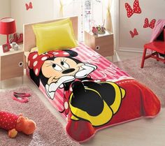 Laynie lovessssss minni mouse she already has the bed set when we move and the girls get their - Mini mouse bedroom ...