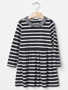 Love this Peter Pan stripe dress from Gap