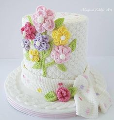 10 Crafter's Cakes That Will Totally Fool You — Cake Wrecks Pretty Cakes, Beautiful Cakes, Amazing Cakes, Flower Cake Design, Knitting Cake, Bird Cage Cake, Cupcake Pictures, Cupcake Pics, Cookie Recipes For Kids