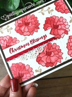 So in Love by Stampin' Up! for GDP065 with Christmas Pines.