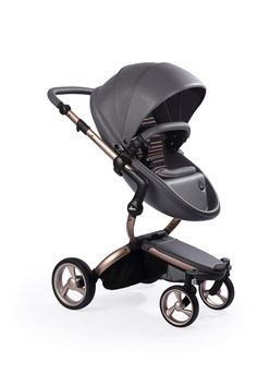 Mima Xari - Cool Grey Seat, Autumn Stripes Starter Pack | The only stroller made with leatherette fabric, the Mima Xari is more than a pretty face. With a chic design and advanced features, this highly-customizable stroller strikes the perfect balance of fashion and functionality.