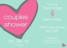 Celebrate the bride and groom with a couple's shower! Rose Scott, Couples Shower Invitations, Couple Shower, Shower Party