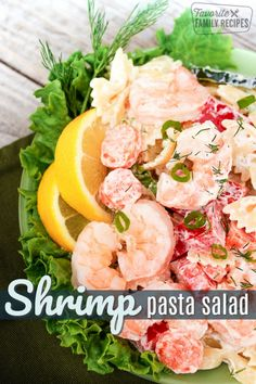 Shrimp Pasta Salad is an easy summer salad that can be a main course or side dish. Fresh shrimp with a creamy zesty dressing that everyone will love! #shrimppastasalad #shrimp #pastasalad #pasta #salad #seafoodsalad #seafood #FavoriteFamilyRecipes #favfamilyrecipes #FavoriteRecipes #FamilyRecipes #recipes #recipe #food #cooking #HomeMade #RecipeIdeas via @favfamilyrecipz Shrimp Recipes Easy, Best Salad Recipes, Pasta Recipes, Appetizer Recipes, Side Dish Recipes, Seafood Recipes, Fish Recipes, Yummy Recipes, Seafood Salad