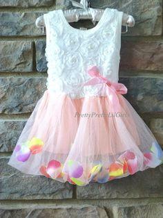 Princess Dress Flower Girls Dress Pink by PrettyPrettyLilGirls, $29.99