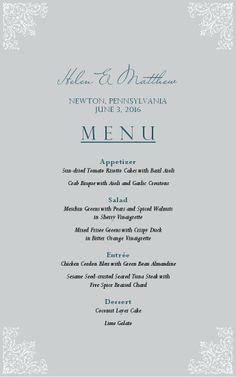 Smoothie Cafe Menu - MustHaveMenus | Wedding Seating Chart | Pinterest