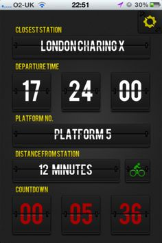 Simple app to show the next train from the closest station as well as time and distance to this station