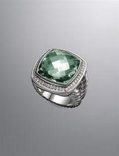 David Yurman Albion Ring in Prasiolite - gift from my parents on my 25th birthday <3