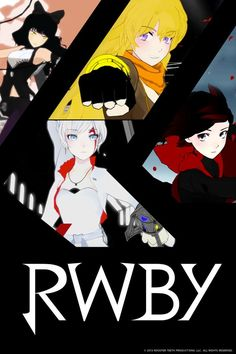 RWBY has 16 episodes. RWBY stands for Red, White, Black, Yellow which represent the four main characters. It is an American/western anime made by Rooster Teeth. RWBY is set in a world where monsters have started to show up on earth and some humans go to school to become hunters and huntresses.