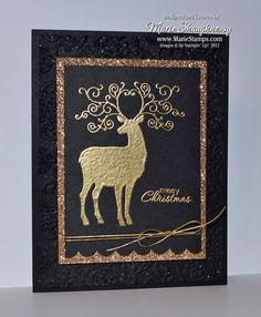 Elegant Glittered Christmas Deer Card...by Card Shark - cards & paper crafts at Splitcoaststampers.