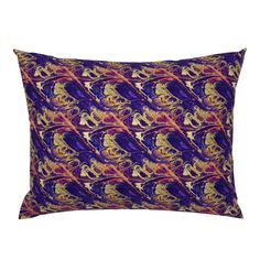 ASTROLOGY ZODIAC MARBLE 5 purple gold on Campine by paysmage | Roostery Home Decor Astrology Zodiac, Purple Gold, Gold Leaf, Pillow Shams, Spoonflower, Pillow Covers, Cotton Fabric, Bedding, Marble