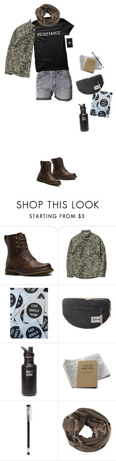 """""""Resistance"""" by neongraa ❤ liked on Polyvore featuring Dr. Martens, Trump Home, Eastpak, klean kanteen and Muji"""