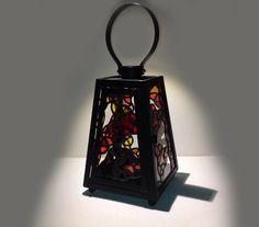 "Stained Glass Lantern - ""Ashqilula"" - by Smash Glassworks [SOLD]"