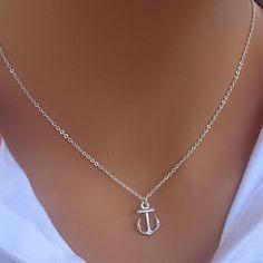 Vintage Anchor Shape Alloy Pendant Necklace(1 Pc) – USD $ 1.89