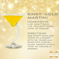 KINKY Gold Martini cocktail drink recipe