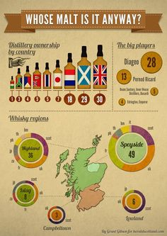 Whisky regions of Scotland. Cigars And Whiskey, Scotch Whiskey, Irish Whiskey, Bourbon Whiskey, Whiskey Girl, Bar Drinks, Alcoholic Drinks, Beverage, Whisky Tasting