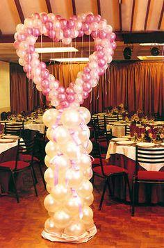 decoracion para una quinceanera | Originales ideas para ceremonias de dijes - Corazones - Iniciales ...