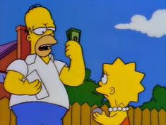 """Homer Says """"Bear Tax? I Don't Pay No Bear Tax! I Pay The Homer Tax!"""" Then Lisa says """"Dad, That's The Home Owner's Tax."""""""