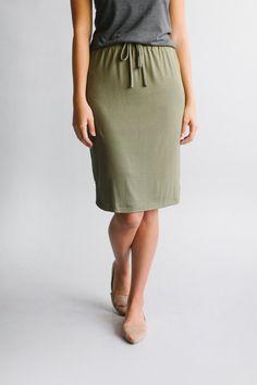 'Olivia' Skirt in Olive