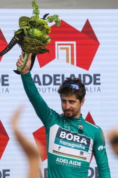 Peter Sagan of BORAhansgrohe won the southaustraliacom Sprint Jersey after Stage six Be Safe Be Seen MAC at the Santos Tour Down Under on January 21...