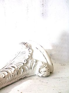 French Cottage Chic Sconce. Wall Shelf Sconce. by 3vintagehearts
