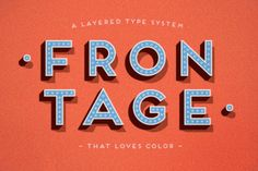 Frontage typeface via DesignWorkLife - Stack fonts, no need to make all the extras in illustrator.