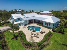 Finn's Landing - Coastal Home Plans Well this is a cool plan! L-shaped floor plan that nicely flows to poolside living. Modern Farmhouse Plans, Farmhouse Design, Farmhouse Style, Cottage Design, Building Design, Building A House, L Shaped House Plans, Ceiling Plan, Energy Efficient Homes